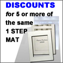 discount for 5 or more photo mats